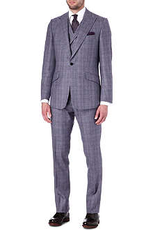 DUCHAMP Three-piece dash check suit