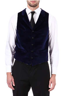 DUCHAMP Double-breasted velvet waistcoat