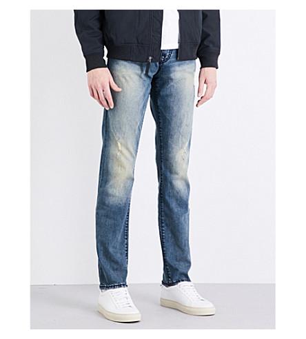 TRUE RELIGION 基诺修身版型放松牛仔裤 (海军 + oxblood