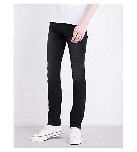 TRUE RELIGION Rocco slim-fit skinny stretch-denim jeans (Black