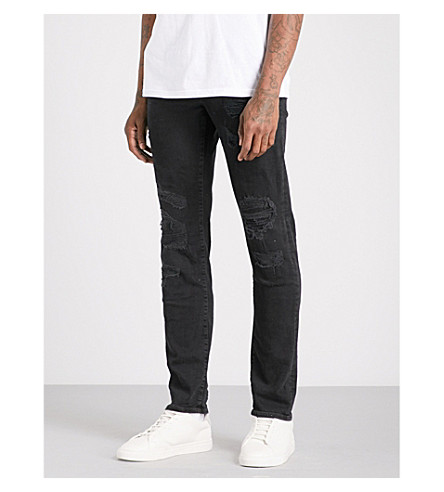TRUE RELIGION Rocco relaxed-fit skinny jeans (Black