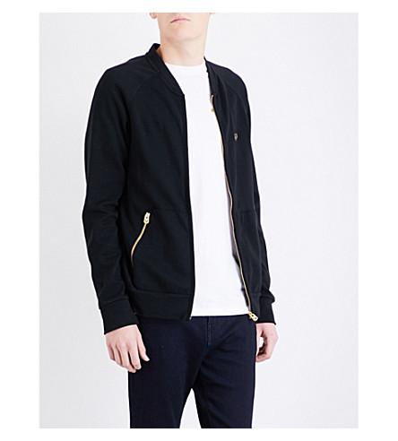 TRUE RELIGION Zip-up cotton-blend sweatshirt (Black