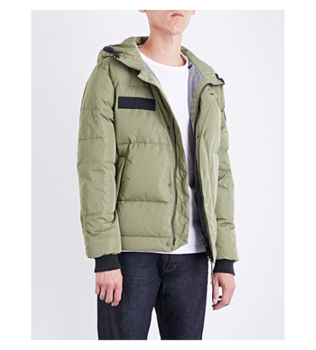TRUE RELIGION Hooded quilted shell down jacket (Olive