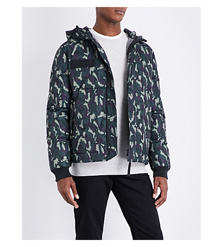TRUE RELIGION Camouflage shell-down jacket (Camo+nightshade