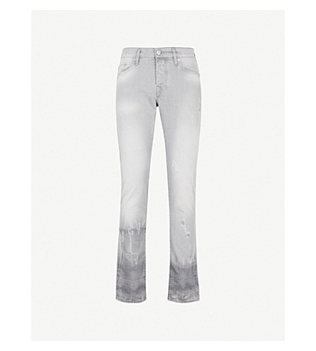 TRUE RELIGION Rocco skinny mid-rise jeans (Slate+grey