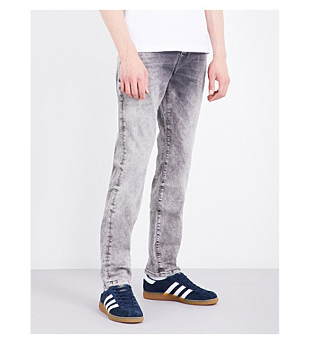 TRUE RELIGION Rocco slim-fit straight jeans (Grey+comfort