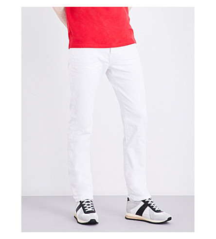 TRUE RELIGION Rocco skinny mid-rise stretch-denim jeans (Optic+white