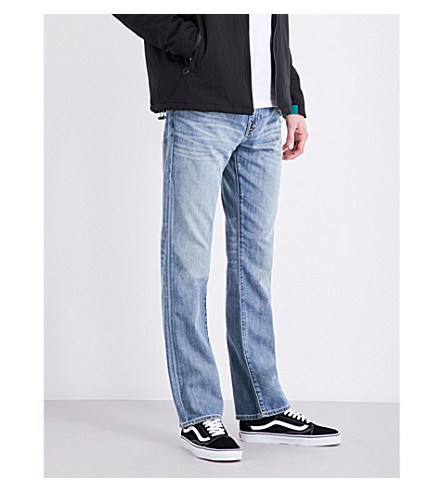 TRUE RELIGION Ricky relaxed-fit straight-leg stretch-denim jeans (Dxwm+caravan