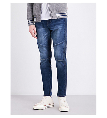 TRUE RELIGION Racer relaxed-fit skinny jeans (Dyim+whiskey+blues