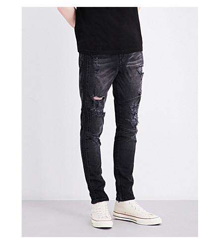 TRUE RELIGION Mick distressed slim-fit skinny jeans (Ddwd+worn+nights