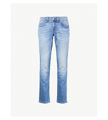 TRUE RELIGION Geno slim-fit relaxed jeans (Indigo+frost