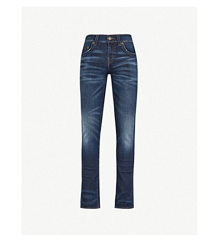TRUE RELIGION Ricky straight relaxed jeans (Moody+blue