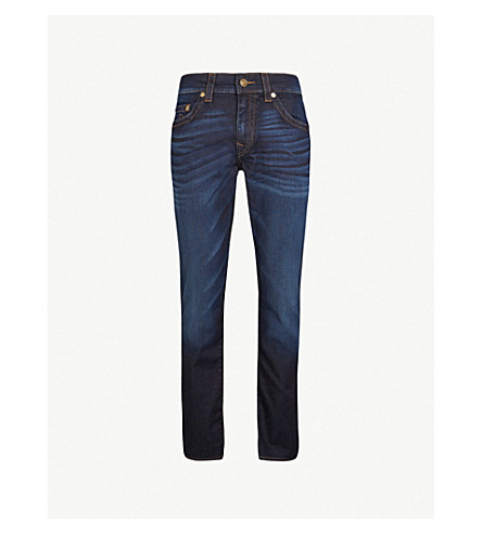 TRUE RELIGION Rocco relaxed-fit skinny jeans (Blue+night