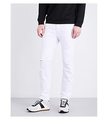 TRUE RELIGION Rocco distressed skinny mid-rise stretch-denim jeans (Worn+cruiser