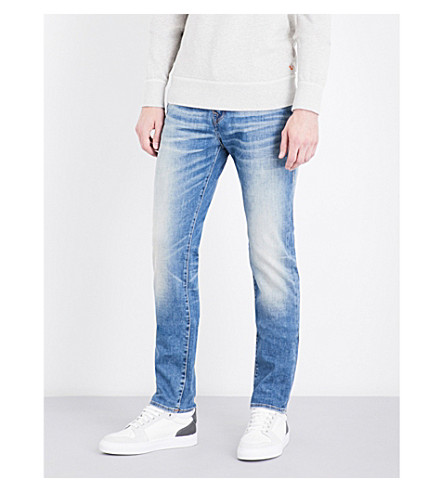TRUE RELIGION Rocco no flap relaxed-fit skinny jeans (Dxzm+indigo+cascade