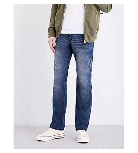 TRUE RELIGION Ricky relaxed-fit straight-leg stretch-denim jeans (Dylm+indigo+relic