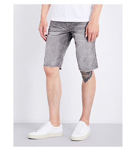 TRUE RELIGION Ricky relaxed-fit straight cotton-blend shorts (Dii+grey