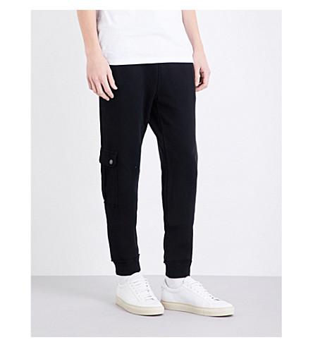 TRUE RELIGION Military cotton-jersey jogging bottoms (Black