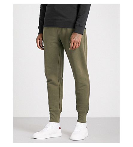 TRUE RELIGION Logo-print cotton-jersey jogging bottoms (Military+green