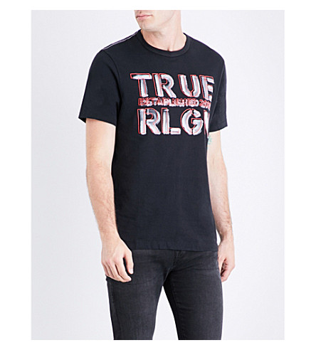 TRUE RELIGION Graphic logo-print cotton-jersey T-shirt (Black