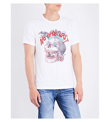 TRUE RELIGION No Love Lost logo-print cotton-jersey T-shirt (Optic+white