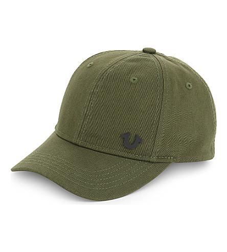 TRUE RELIGION Core logo baseball cap (Army+green/black
