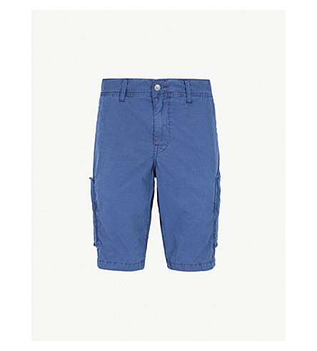 TRUE RELIGION Logan slim-fit straight cotton chino shorts (Ace+(navy)