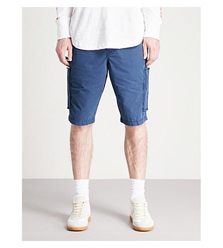 TRUE RELIGION Logan slim-fit straight cotton chino shorts (Ace+(navy)