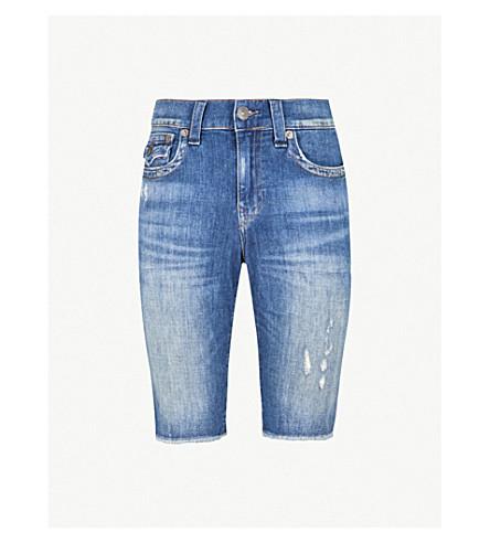 TRUE RELIGION Ricky relaxed-fit denim shorts (Blue