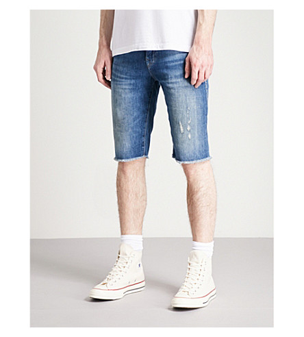 TRUE RELIGION Ricky relaxed-fit denim shorts (Blue