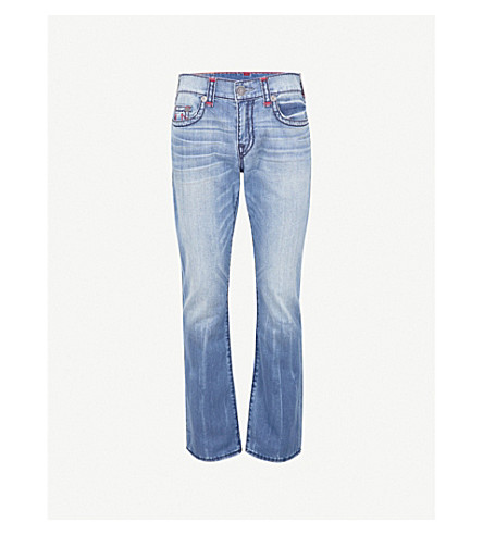 TRUE RELIGION The Ricky faded slim-fit straight jeans (Denim+lapis