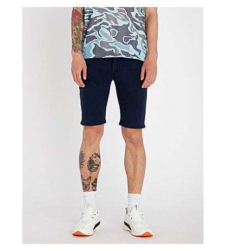 vaqueros RELIGION ajustados y elásticos marino Shorts TRUE azul ZFEHxwqSZd