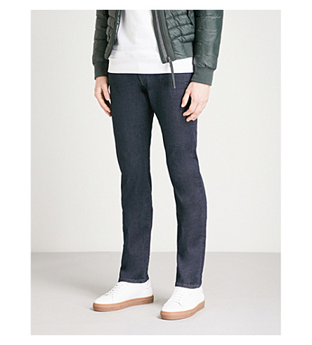 TRUE RELIGION Rocco Lacey relaxed-fit skinny jeans (Med+blue