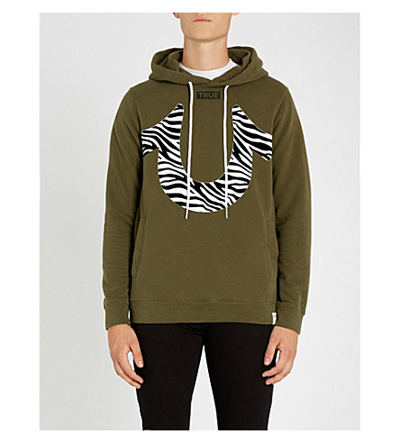 TRUE RELIGION Zebra-logo cotton-jersey hoody