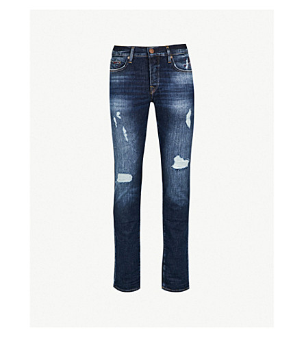 57730eb65fb TRUE RELIGION Rocco relaxed-fit skinny jeans (Bys+cobalt+blue