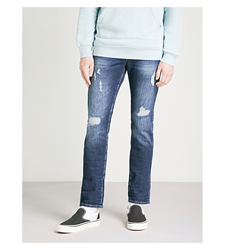 TRUE RELIGION Rocco relaxed-fit skinny jeans (Bys+cobalt+blue