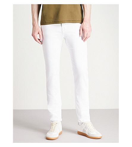 TRUE RELIGION Rocco skinny-fit jeans (Optic+white
