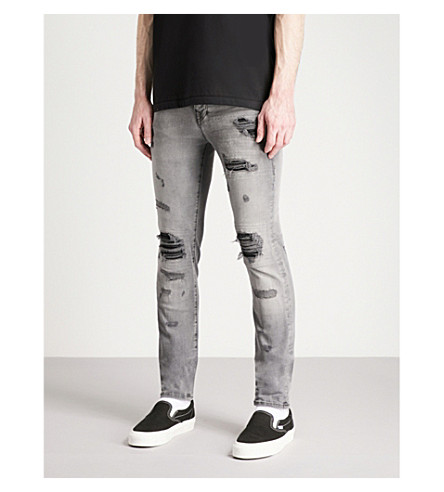 TRUE RELIGION Rocco skinny-fit jeans (Washed black