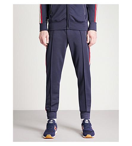 TRUE RELIGION Side-stripe cotton-jersey jogging bottoms (Navy