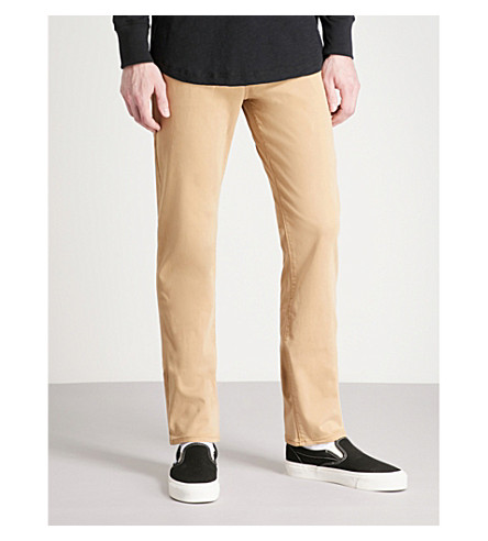 TRUE RELIGION Relaxed slim-fit woven trousers (Beige