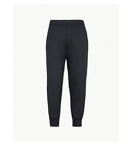NEIL BARRETT Metallic side-stripe jersey jogging bottoms (Blk