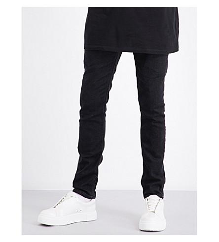 NEIL BARRETT Clean super-skinny mid-rise jeans (Black
