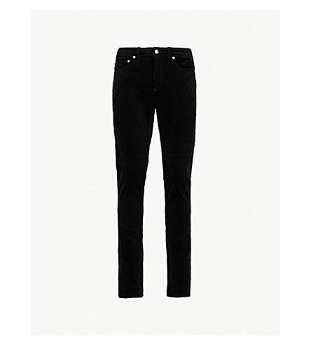 NEIL BARRETT Skinny mid-rise velvet jeans (Black