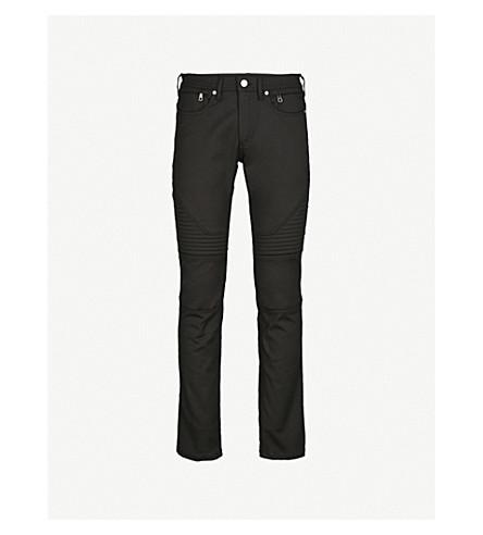 NEIL BARRETT Panelled relaxed skinny jeans (Black