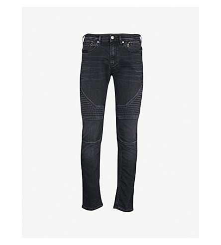 NEIL BARRETT Panelled slim-fit skinny jeans (Black