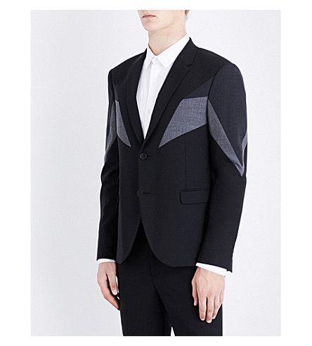 NEIL BARRETT Modernist slim-fit woven jacket (Blkchsl