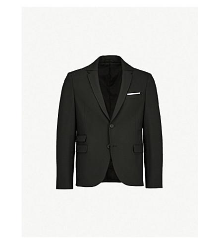NEIL BARRETT Regular-fit wool jacket (Black