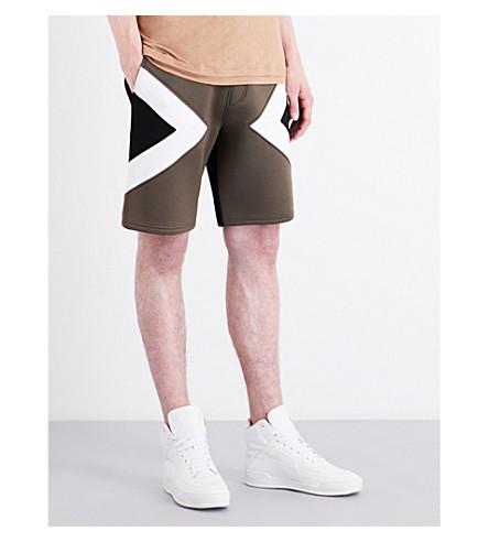 NEIL BARRETT Neo Modernist low-rise neoprene shorts (Milblkwhte