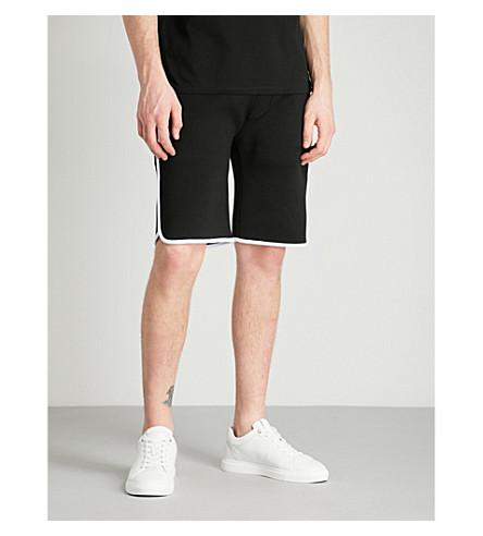 NEIL BARRETT Striped neoprene shorts (Black