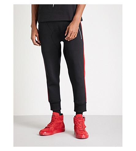 NEIL BARRETT Side stripe neoprene jogging bottoms (Black